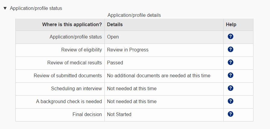 Application Status as of Feb 12, 2016