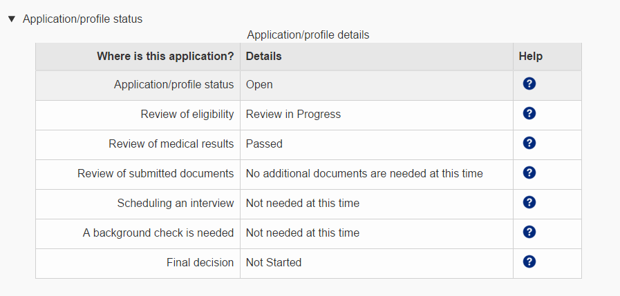 Application Status as of Feb 12, 2016